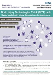 Flyer_Brain Injury Technologies Think (BITT) tank